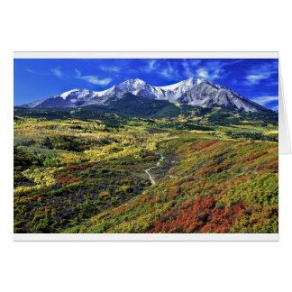 Autumn in the Rockies with Mt Sopras Card