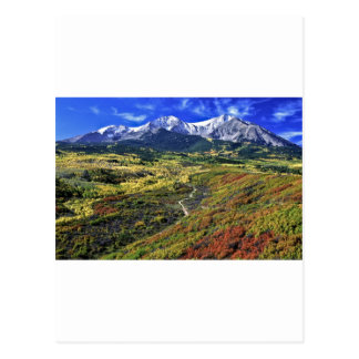 Autumn in the Rockies with Mt Sopras Postcard