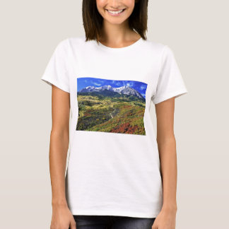 Autumn in the Rockies with Mt Sopras T-Shirt