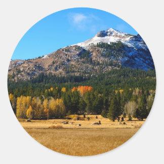 Autumn In The Sierra's Classic Round Sticker