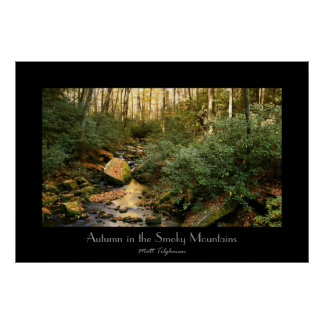 Autumn in the Smoky Mountains Posters