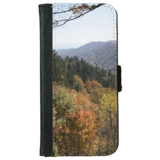Autumn in the Smoky's Wallet Phone Case For iPhone 6/6s