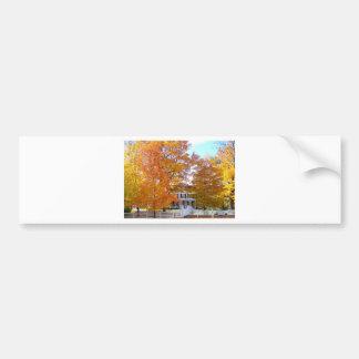 Autumn in the Suburbs Bumper Sticker