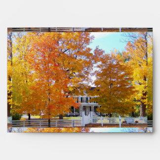 Autumn in the Suburbs Envelope
