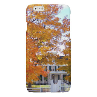 Autumn in the Suburbs Glossy iPhone 6 Case