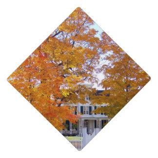 Autumn in the Suburbs Graduation Cap Topper