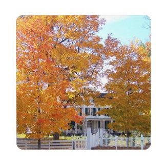 Autumn in the Suburbs Puzzle Coaster