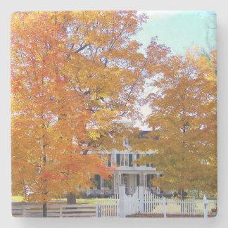 Autumn in the Suburbs Stone Coaster