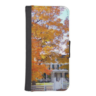 Autumn in the Suburbs Wallet Phone Case For iPhone SE/5/5s