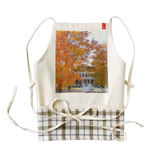 Autumn in the Suburbs Zazzle HEART Apron