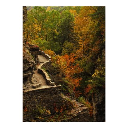 Autumn in Treman State Park Posters