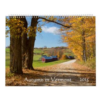 Autumn in Vermont - 2015 Calendar