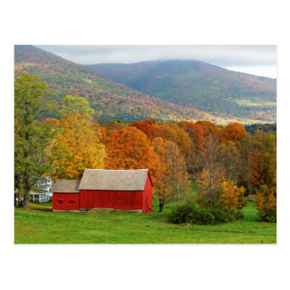 Autumn in Vermont Postcard