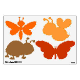 autumn insects wall decal