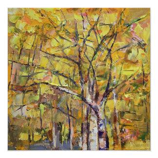 Autumn 5.25x5.25 Square Paper Invitation Card