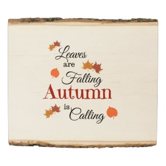 Autumn Is Calling Wood Panel