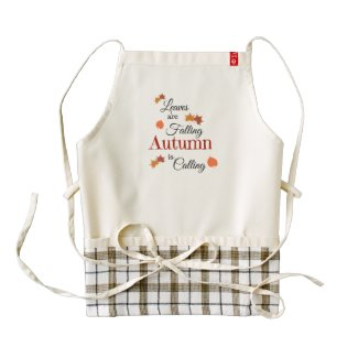 Autumn Is Calling Zazzle HEART Apron