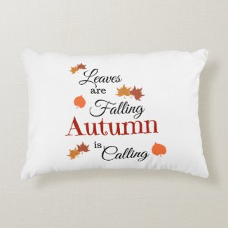 Autumn Is Coming Leaves Are Falling Accent Pillow
