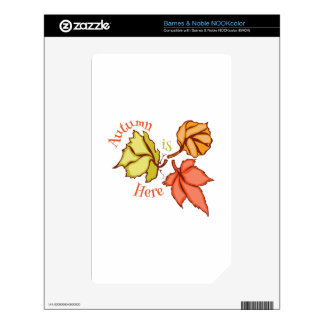 Autumn Is Here Decal For NOOK Color