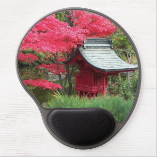Autumn Japanese Garden Photo Gel Mouse Pad