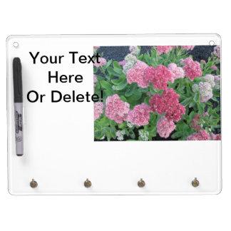 Autumn Joy Sedum Flowering Garden Plant Pink Green Dry Erase Board With Keychain Holder