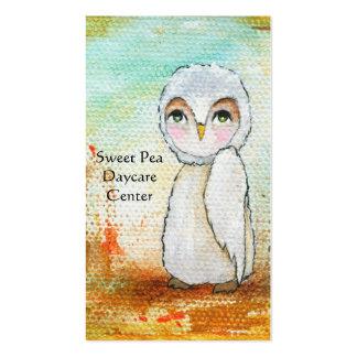 Autumn Joy, Whimsical Woodland Owl Art Painting Business Card Template