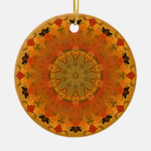 Autumn Kaleidoscope Ceramic Ornament