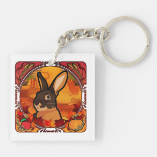 AUTUMN Double-Sided SQUARE ACRYLIC KEYCHAIN