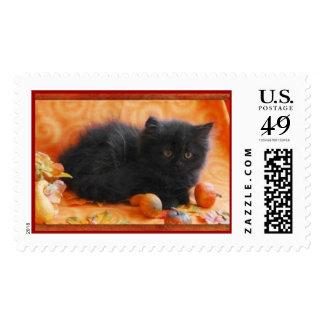 Autumn Kitten Stamp