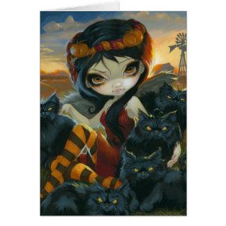 """""""Autumn Kitties"""" Greeting Card"""