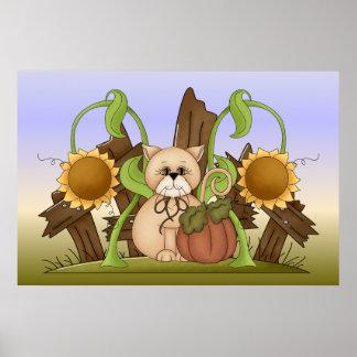 Autumn Kitty Poster