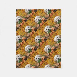 Autumn Labrador Fleece Blanket