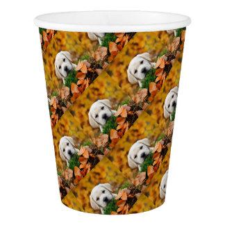 Autumn Labrador Paper Cup