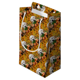 Autumn Labrador Small Gift Bag