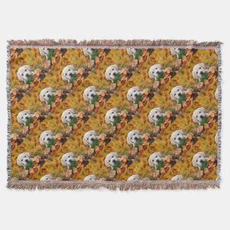 Autumn Labrador Throw Blanket