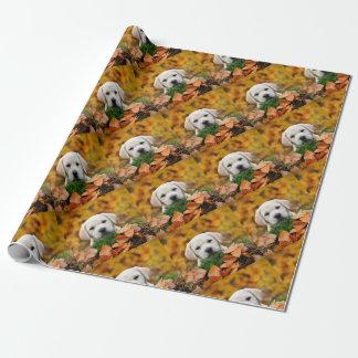 Autumn Labrador Wrapping Paper