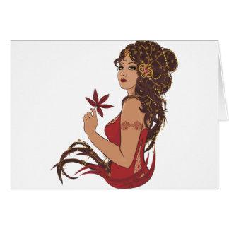 Autumn lady card