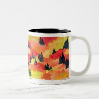 """Autumn Lake """"AUTUMN"""" Coffee Mug"""