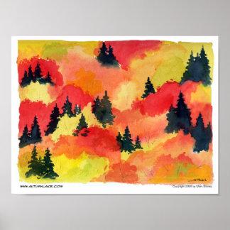 """Autumn Lake """"AUTUMN"""" Poster"""