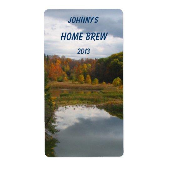 Autumn Lake Beer Label