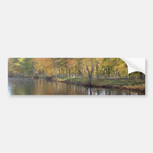 Autumn Lake Bumper Sticker