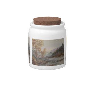Autumn Lake Candy Jar