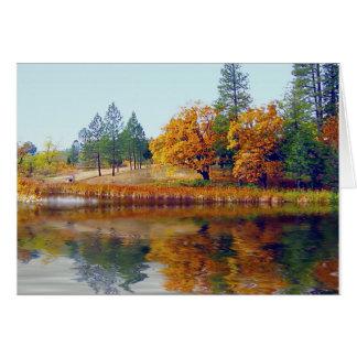 Autumn Lake Card