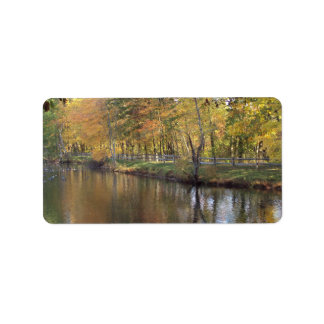 Autumn Lake Custom Address Label