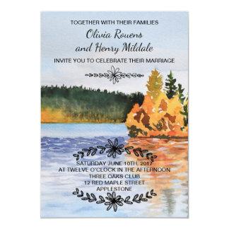 Autumn lake invitation