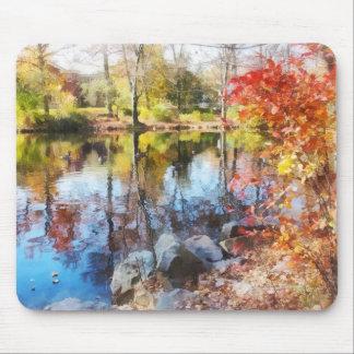Autumn Lake Mousepads