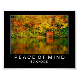 Autumn Lake Reflections: Peace of Mind Poster