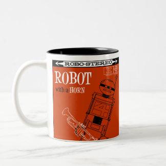 "Autumn Lake ""ROBOT WITH A HORN"" Mug"