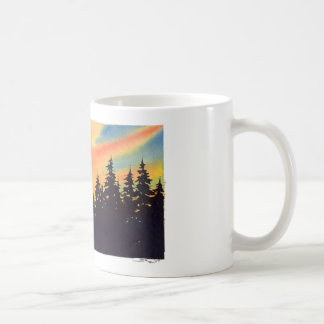 "Autumn Lake ""SUNSET WOODS"" Coffee Mug"