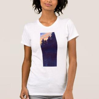 "Autumn Lake ""SUNSET WOODS"" Womens T-Shirt"